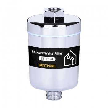 Universal water filter shower head for housing filtration