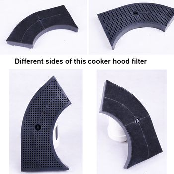 Cooker hood charcoal filters
