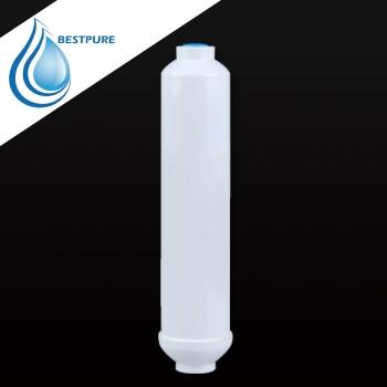 Inline alkaline activated carbon block water filter