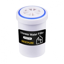 Housing alkaline shower filter cartridge for bathroom use