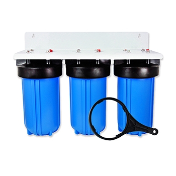 3 Stage 10x4.5 Big Blue Water Filter Housing