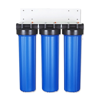 3 Stage 20x4.5 inch Big Blue Water Filter Housing