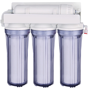 Clear water filter housing-3 stage under sink water filter