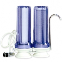 Dual stage countertop water filter system