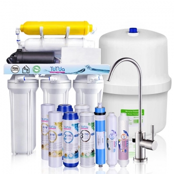 6-STAGE 80 GPD Reverse Osmosis System with Pump