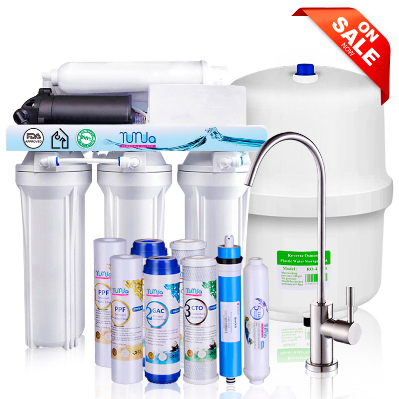 5 Stage 80GPD RO System with Booster Pump, Faucet and Tank Wholesale Price 46$