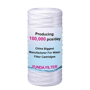 10X4.5 Inch Big Blue String Wound Water Filter Cartridge