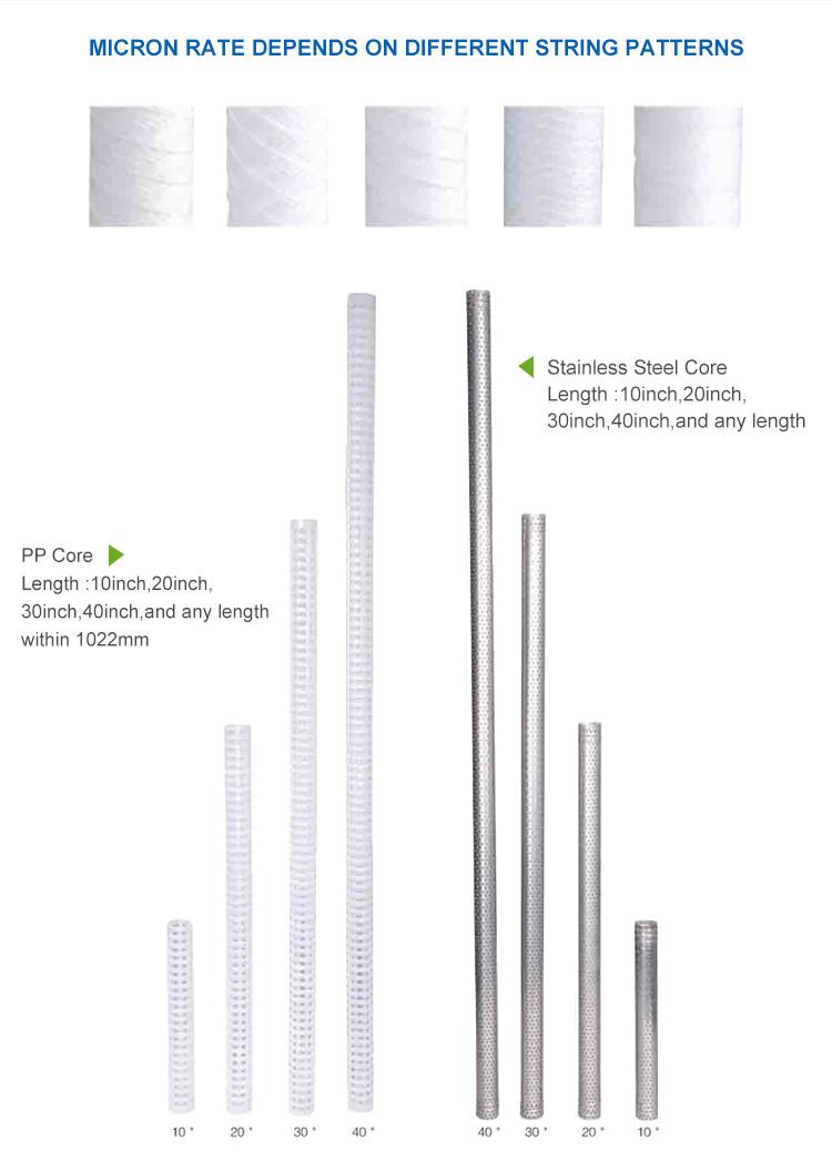 String Wound Sediment Filter, 10 x 4.5 inch String Wound Sediment Filter