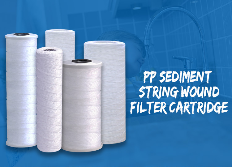 Wound Type Cartridge Filter,  20 X 4.5 Inch Wound Type Cartridge Filter