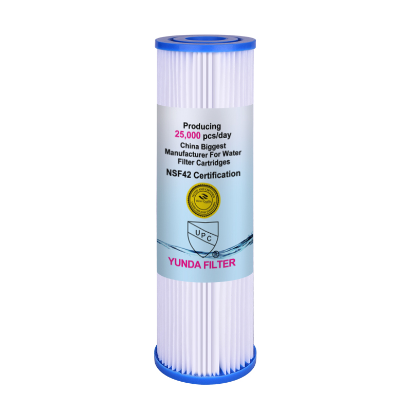 10x2.5 Inch Pre PP Pleated Sediment Water Filter  Cartridge