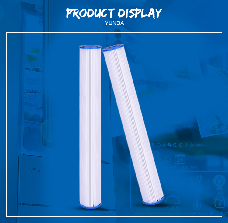 Pleated Water Filter Cartridge, 20 x 2.5 Pleated Water Filter Cartridge