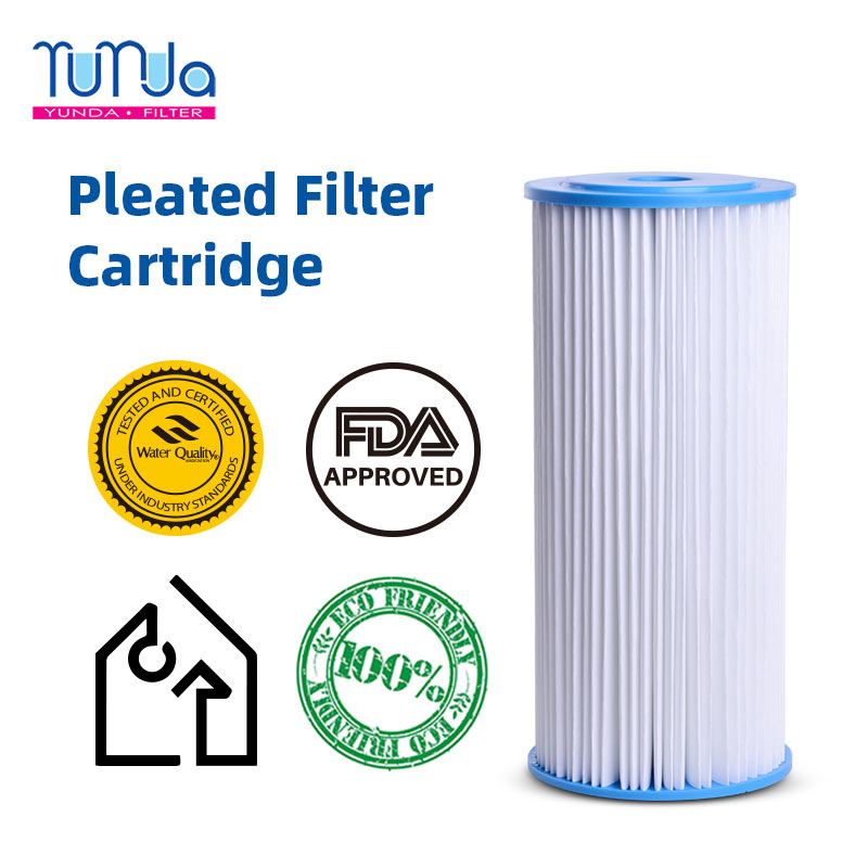Pleated Sediment Filter_ 4.5 x 10 inch Pleated Sediment Filters