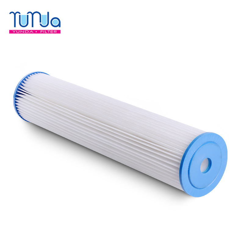 Pleated Polyester Filter Cartridges_ 20 x 4.5 inch Pleated Polyester Filter Cartridges