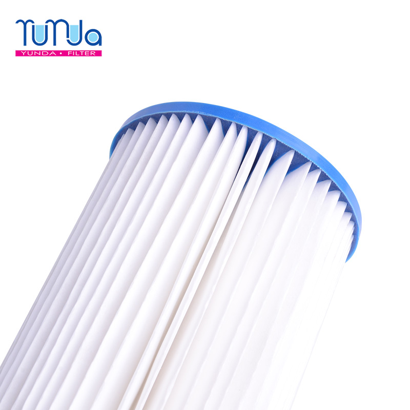 Pleated Polyester Filter Cartridge_ 20 x 4.5 inch Pleated Polyester Filter Cartridges