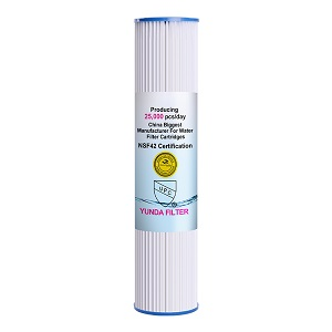 20x4.5 inch PP Pleated Sediment Filter More Micron Rate with Low Price