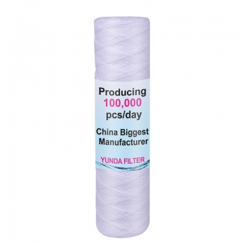 10 X 2.5 Inch Pre PP String Wound Sediment Filter Cartridge