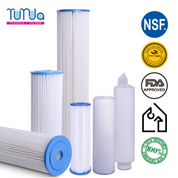 Pleated Water Filter, 10 x 2.5 inch Pleated Water Filter
