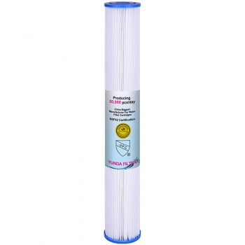 20x2.5 inch PP Pleated Sediment Filter Cartridge with Low Price