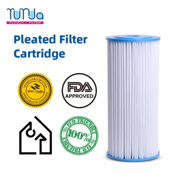 Pleated Sediment Filter_ 4.5 x 10 inch Pleated Sediment Filters