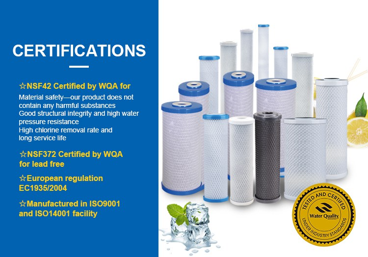 CTO Water Filter, 2.5 x 10 inch CTO Water Filter