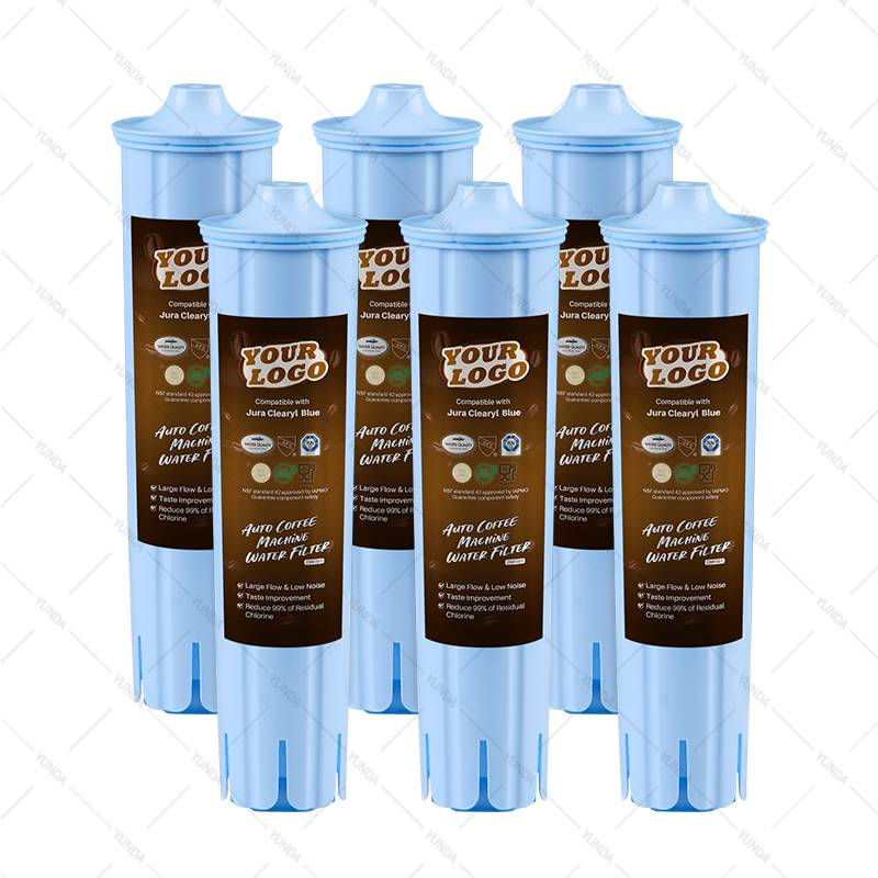 6-Pack Water Filters for Auto Coffee Making Machines Fits Jura Blue