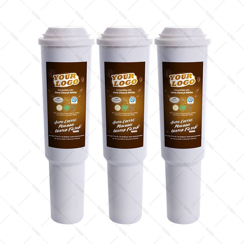 3-Pack Water Filter Cartridges for Jura Clearyl White Coffee Making Machines.