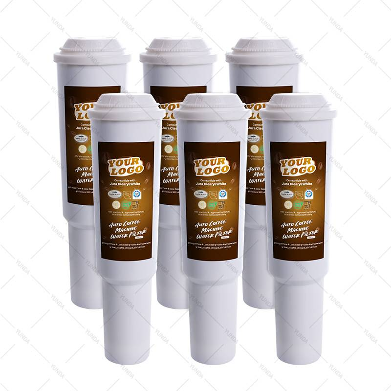 6-Pack Jura Clearyl White Water Filter Cartridge Replacements