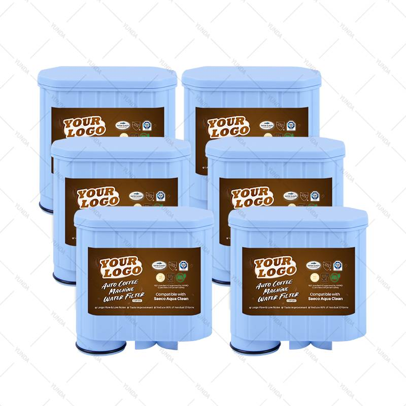 6-Pack Water Filters for Auto Coffee Making Machines Fits Saeco, Aqua Clean