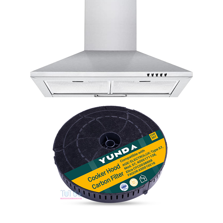 For Electrolux TYPE 57, Elica Mod CFC0038668 Range Cook Hood Charcoal Filters